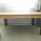 【美品】こたつテーブル/長方形/オールシーズン対応/高さ調整可能