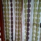 310 カーテン2枚1セット レースカーテン付き 洗濯未