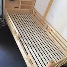 シングルベッドフレーム ベッド 木製 シンプル