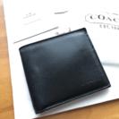 コーチ 財布(二つ折り) メンズ  新品未使用品
