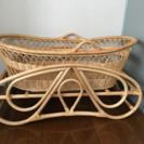 籐製 ゆりかご