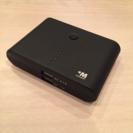plusM ハイパワーモバイルバッテリー 8800mAh ブラック