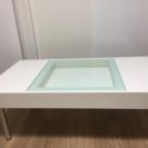 ホワイトガラステーブル 110×60