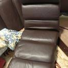 中古の大きめのリクライニング座椅子(焦げ茶)2脚