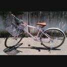 【商談中】自転車 カゴ付クロスバイク 700c 泥よけ付 27インチ