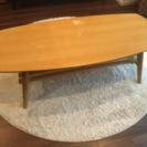 【中古】ローテーブル 北欧 折りたたみ 木製  ナチュラル