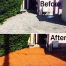 かわら7 お庭のお手入れ 防草効果 お庭を明るく