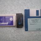有線LANカード エレコム Laneed  PCMCIA Type...