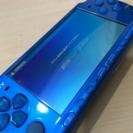美品 PSP3000 本体 ブルー メモリースティック付セット