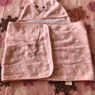 baby~kids用のフード付きタオル
