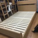 木製 セミダブルベッド フレーム 売ります