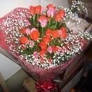 薔薇30本の花束(かすみ草入)送料無料です。地域により一部負担有り。