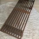 アジアン 格子 ガラストップリビングテーブル