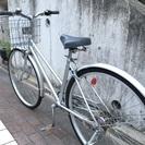 【取り引き中】27型 自転車 シルバー 6段変速