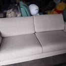 [布張り大きなソファー]ストレッチ製カバー付き⁑リサイクルショップヘルプ