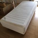 [値下げ]IKEA 脚付きマットレス(ベッド)