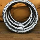 自転車タイヤチューブセット 24×1 3/8 白黒
