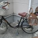 前後に子どもを乗せられる自転車差し上げます。