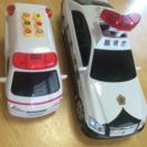 パトカーと消防車のセット