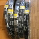 自転車タイヤチューブ 24×1 3/8 白黒