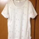 美品 mickeyプリント スポーツTシャツ 白