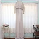 ウェディングドレス/カラードレス/エンパイア/ライトグレー/ボレロ付き