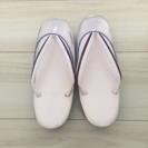 [未使用品]雨草履 L寸 ピンク系