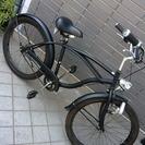 ビーチクルーザー 自転車 クロスバイク シティサイクル チャリ