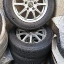 社外アルミ/タイヤ 4本セット 美品 バリ山 195/65R15