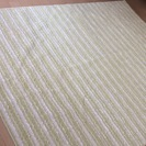 未使用◎ 日本製 白×黄緑 ラグ カーペット マット ナチュラル