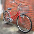 ママチャリ(〜11/23保証付)自転車(後ろ子供乗せ可能)