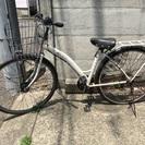 ジャンク 白 自転車27インチ