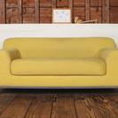 イケアIKEAの大きくどっしとりとしたソファー、交換カバー付き