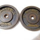 バーベル5キロ×2枚 プレート ダンベル プレート 28mm ミズ...