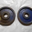 バーベル1キロ×2枚 プレート ダンベルプレート 28mm  ER...