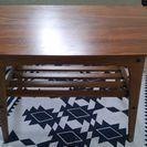 ローテーブルと勉強机