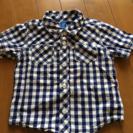 超美品!80〜90サイズ☆男の子用チェック柄シャツ