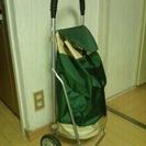 重い荷物もへっちゃら★ショッピングカート★マミー緑/ベージュ