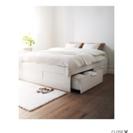 IKEA 収納付きダブルベッド 白
