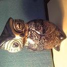 ふくろうの置物 陶器