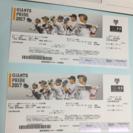 2017/7/27 巨人vs広島 外野自由席 2枚セット