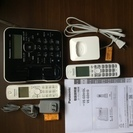 電話機/PANASONIC/VE-GD51DL/親機もコードレス/美品
