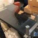 カウンターテーブル ガラス