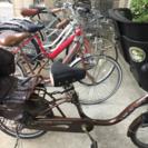 こども乗せ自転車 3人乗り チャイルドシートレインカバー付き