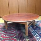 真ん丸な折り畳み座卓