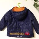 【ユーズド美品】ミキハウス 中綿 ジャンパー ダウン アウター
