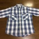 USA製 長袖シャツ ブルー Lサイズ
