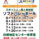 7月13日(木)9時~白根地区センター ソフトバレーボールやりませんか?