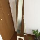 スタンド鏡【白】【シンプル】【状態良】