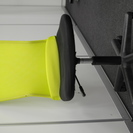 オフィスの会議室用椅子 黄緑色 10脚